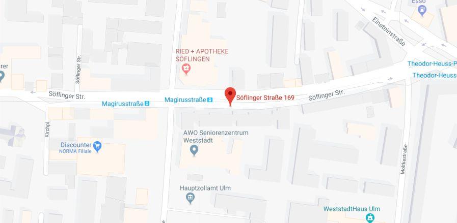 Unsere Praxis befindet sich in der Söflinger Straße 169